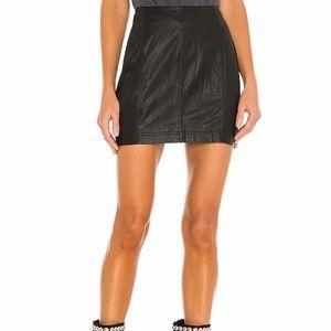 Free People Modern Femme Vegan Mini skirt size 0